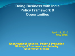 Investment Opportunities - Embassy of India, Slovenia