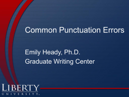 Common Punctuation Errors