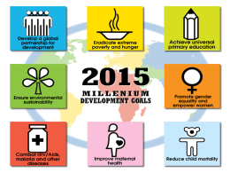 MDG Quiz - SCSC VCE Health and Human Development