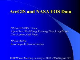 ArcGIS and NASA EOS Data