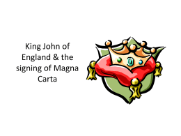 King John signs the Magna Carta