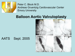 Balloon Aortic Valvuloplasty