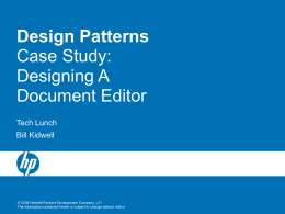 Design Patterns: Case Study