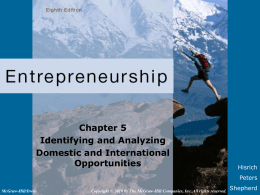 Chapter 5 Identifying and Analyzing Domestic and International