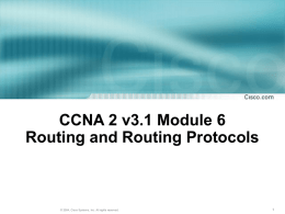 CCNA 1 Module 11 TCP/IP Transport and Application Layers