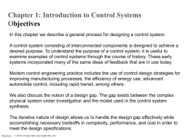 Chapter 1 - Introduction to Control Systems