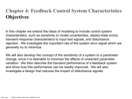 Chapter 4 - Feedback Control System