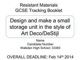 Resistant Materials - Walkden High School