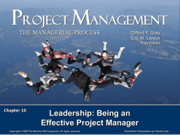 Project Management 3e.