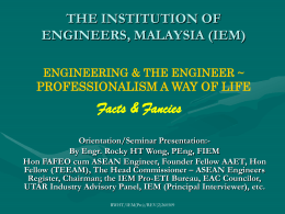 THE INSTITUTION OF ENGINEERS, MALAYSIA (IEM) The
