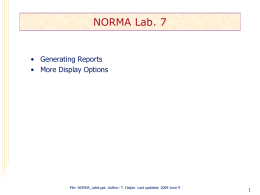 NORMA Lab 7 - Object Role Modeling