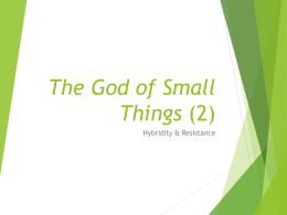 The God of Small Things (2) - The University of Auckland
