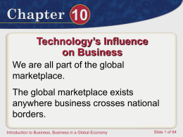 Chapter 10.1 The Global Marketplace File