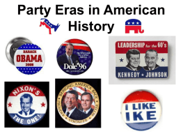 Party Eras in American History