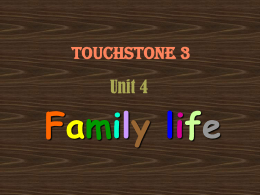 Touchstone 3 Unit 4