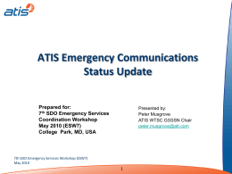 ATIS - Emergency Services Workshop