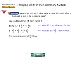Changing Units in the Customary System(4