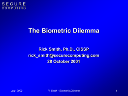 The Biometric Dilemma
