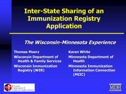 Inter-State Sharing of an Immunization Registry Application