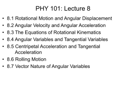 Phy 101 Lecture 08