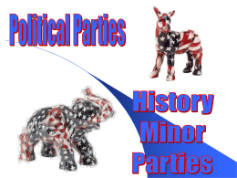 Reemergence of Political Parties 1820-1840 Essay Sample