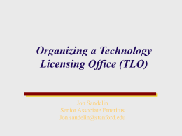 Stanford Office of Technology Licensing (OTL)