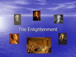 Intro to the Enlightenment