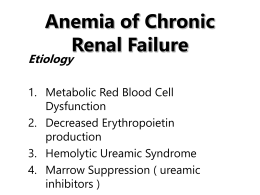 Anemia of Chronic Renal Failure