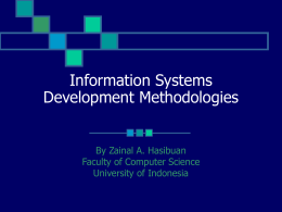 Techniques In Information Systems Development