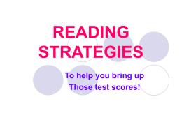 reading strategies - Huntington Place Elementary School