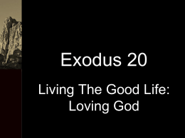 Exodus 20.1 – With Notes