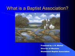 What is a Baptist Association? - Bluebonnet Baptist Association