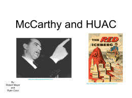 McCarthy and HUAC - APASalesman2011