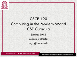 CSCE 330 Programming Language Structures - CSE