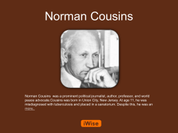 Norman Cousins Powerpoint