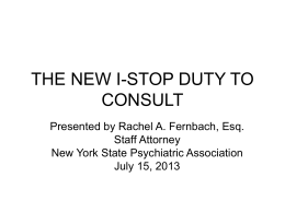August 27, 2013 - New York State Psychiatric Association