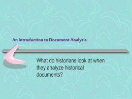 Document Analysis Lesson