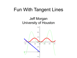 Fun With Tangent Lines - University of Houston