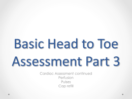 Basic Head to Toe Assessment Part 3