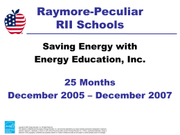 Energy Management Program Review 2007 - Raymore