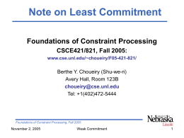 "Note on the ""least commitment"""