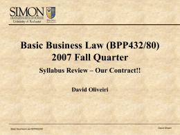 David Oliveiri - Simon Business School