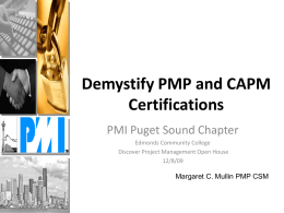 Demystify PMP and CAPM Certifications