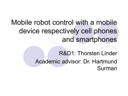 Mobile robot control with a mobile device - www2.inf.h