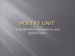 Poetry Unit - Rafael Tejada