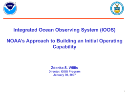 NOAA`s Integrated Ocean Observing System