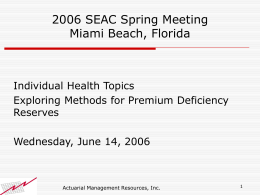 Spring 2006 SEAC Wednesday Seminar