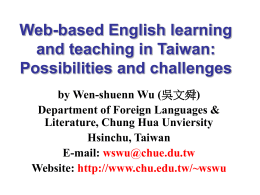 Web-based English learning and teaching in Taiwan: Possibilities