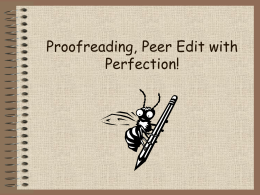 Peer Editing with Perfection! tutorial