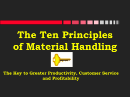 The Ten Principles of Material Handling